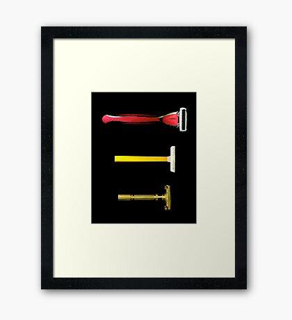 Razors. 1965-1985-2009 Framed Print