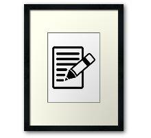 Pencil paper Framed Print