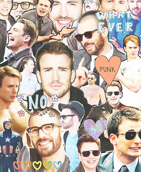 chris evans collage by cocosuspenders