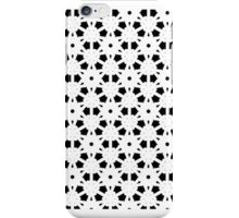 Lace look skirt, SOFT BLACK & WHITE GEO iPhone Case/Skin