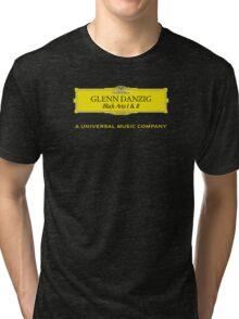 Danzig Black Aria Deutsche Grammophon Mashup Tri-blend T-Shirt