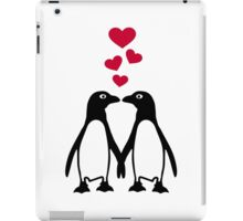 Penguin red hearts love iPad Case/Skin