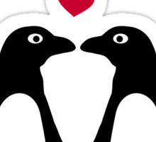 Penguin red hearts love Sticker