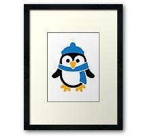 Penguin winter scarf Framed Print