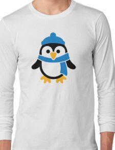 Penguin winter scarf Long Sleeve T-Shirt