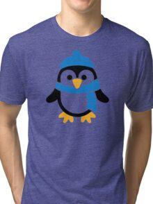 Penguin winter scarf Tri-blend T-Shirt