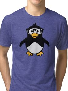 Penguin glasses Tri-blend T-Shirt