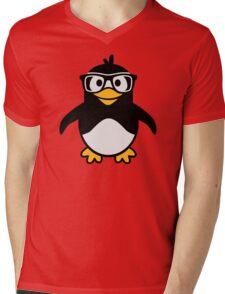 Penguin glasses Mens V-Neck T-Shirt