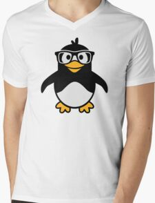 Penguin glasses Mens V-Neck T-Shirt