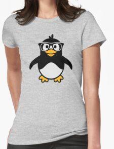 Penguin glasses Womens Fitted T-Shirt