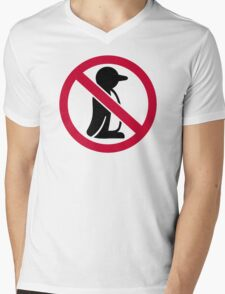 No penguin Mens V-Neck T-Shirt