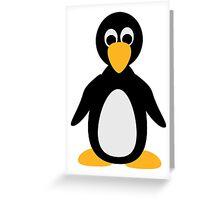 Comic penguin Greeting Card