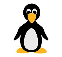 Comic penguin Photographic Print