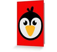 Penguin head Greeting Card