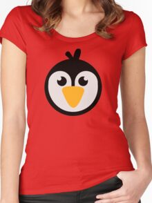 Penguin head Women's Fitted Scoop T-Shirt