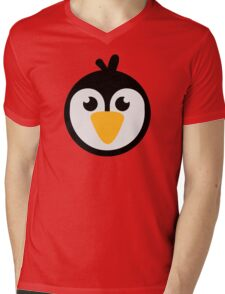 Penguin head Mens V-Neck T-Shirt
