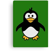 Comic penguin Canvas Print