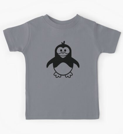 Black penguin Kids Tee
