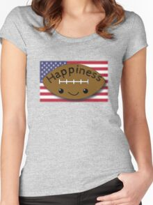 Happiness - Football Women's Fitted Scoop T-Shirt