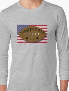 Happiness - Football Long Sleeve T-Shirt