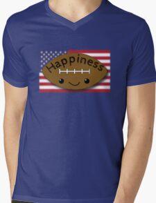 Happiness - Football Mens V-Neck T-Shirt