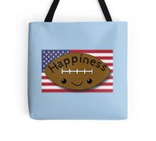 Happiness - Football Tote Bag