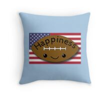 Happiness - Football Throw Pillow