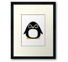 Comic penguin Framed Print