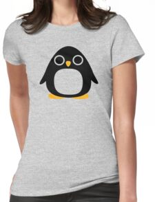 Comic penguin Womens Fitted T-Shirt