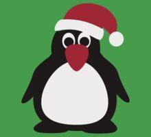 Santa penguin Baby Tee