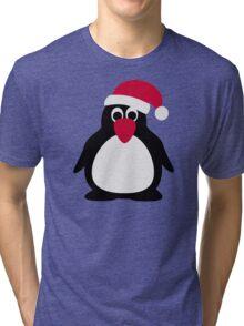 Santa penguin Tri-blend T-Shirt