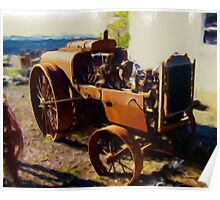 Rusting Old Farm Equipment Poster