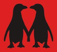 Penguin couple love Kids Tee
