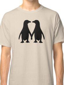Penguin couple love Classic T-Shirt