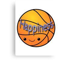 Happiness - Basketball Canvas Print