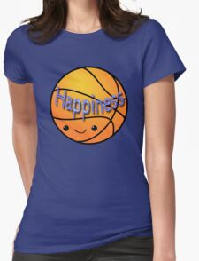 Happiness - Basketball Womens Fitted T-Shirt