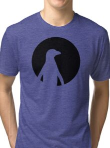 Penguin moon Tri-blend T-Shirt