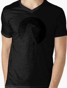 Penguin moon Mens V-Neck T-Shirt