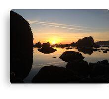 Left coast sunset Canvas Print