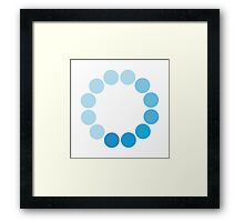 Comic Con Spinning Blue Circle Framed Print