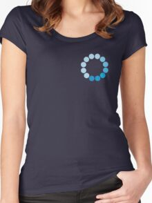 Comic Con Spinning Blue Circle Women's Fitted Scoop T-Shirt