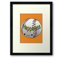 Happiness - Baseball Framed Print