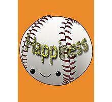 Happiness - Baseball Photographic Print