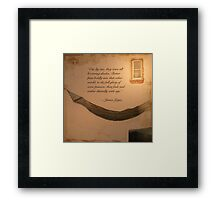 """Stately, plump Buck Mulligan""... Framed Print"
