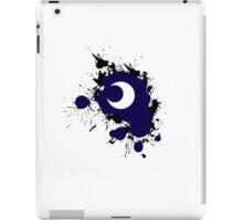 Lunar Splat (black paint, white background) iPad Case/Skin