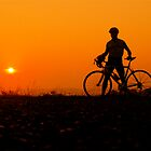 sunset bicycle by Etienne RUGGERI Artwork eRAW