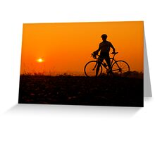 sunset bicycle Greeting Card