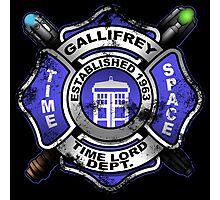Gallifrey Firehouse Photographic Print