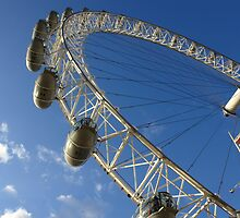 Slice of the wheel of London Eye from an angle by ashishagarwal74
