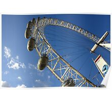 Slice of the wheel of London Eye from an angle Poster